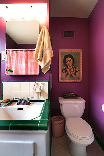 cool colorful bathroom