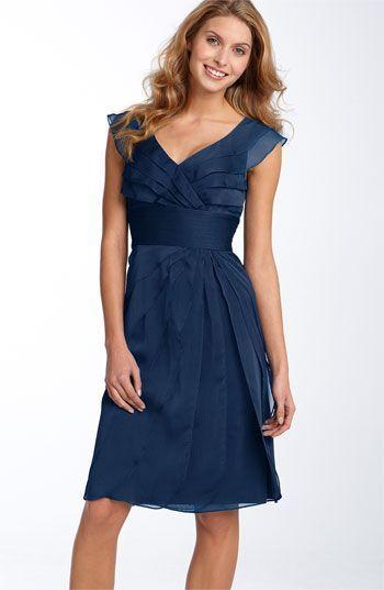 Adrianna Papell Tiered Chiffon Dress available at #aodai #ao dai