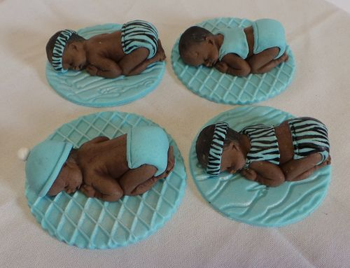 Baby boys fondant toppers