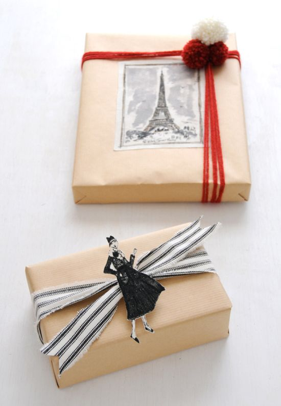 Paris wrapping paper