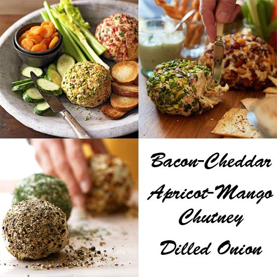 We think appetizers are perfect for parties! Get three delicious cheese ball recipes on Delish Dish: www.bhg.com/...
