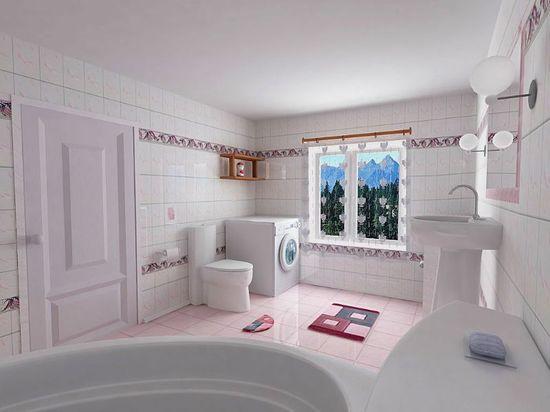 lovely spacious bathroom design