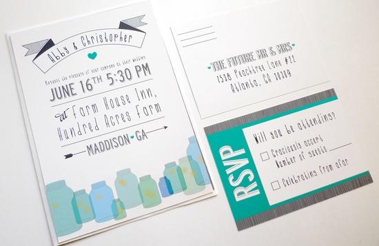 Cute Wedding Invites. Etsy.