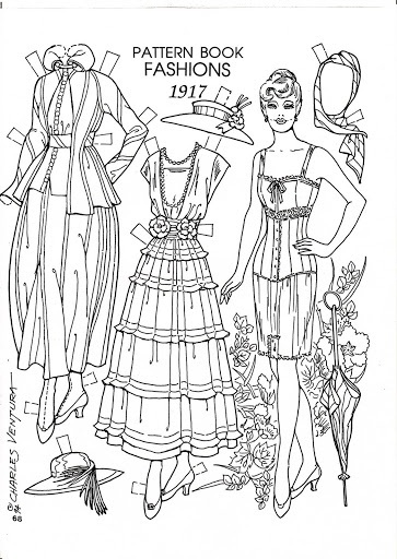 The Girl with the Star-Spangled Heart: Pinspiration: 1917 Paper Doll