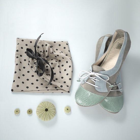 The Sofia Oxfords in Aqua Green Gray and Ash Cute by elehandmade
