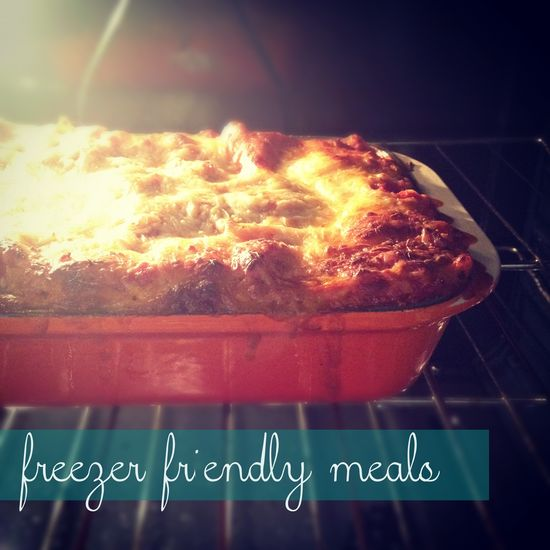 Five Freezer-Friendly Meals