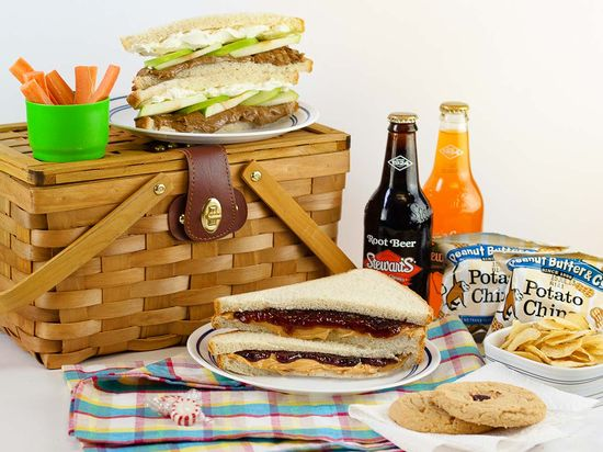 Prepared picnic for two from Peanut Butter