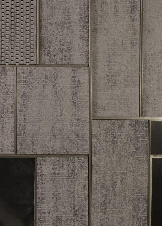 Dark Brick with Metal Inlay