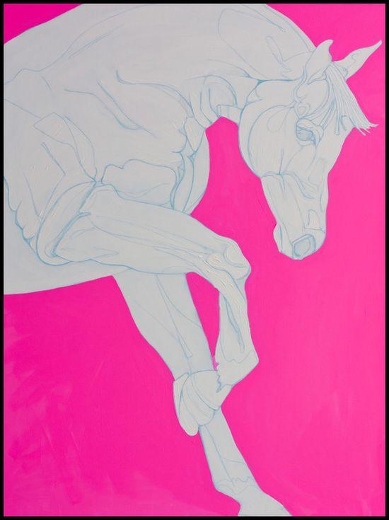 """Yaheya Pasha; Acrylic, 2012, Painting """"Porcelain & Pink"""""""