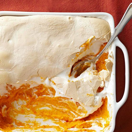 Perfect way to make a family favorite even better!_________    Shhhhh. No one will know that this Marshmallow Sweet Potato #Casserole is brimming with carrots and parsnips! More #holiday recipes: www.bhg.com/...