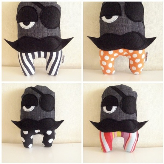 Mustached plushie.