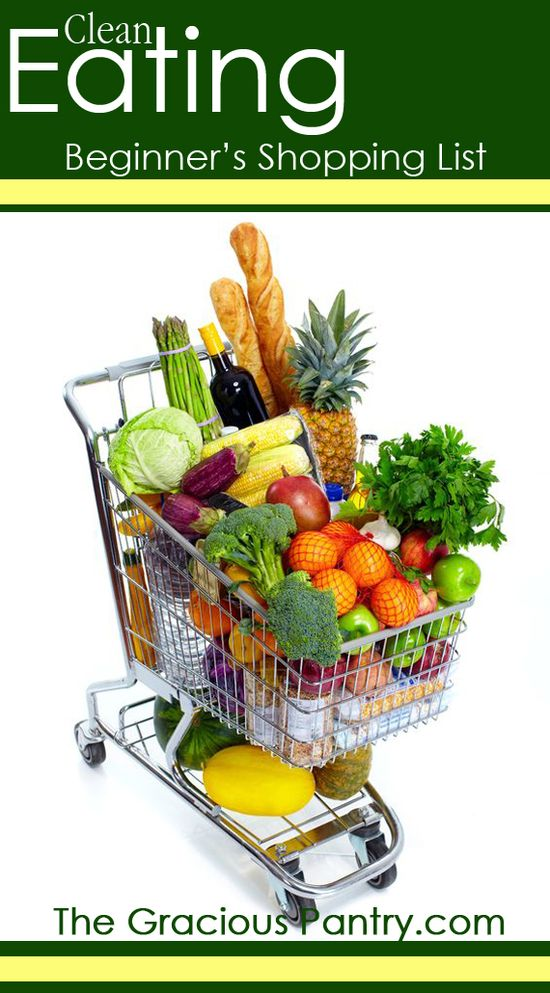 Clean Eating Shopping List For Beginners #cleaneating #eatclean #shop #shopping #food #grocery #groceries #shoppinglist