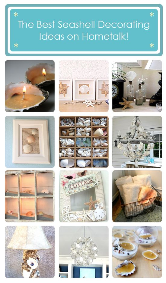 The best seashell decorating ideas on Hometalk! www.hometalk.com/...