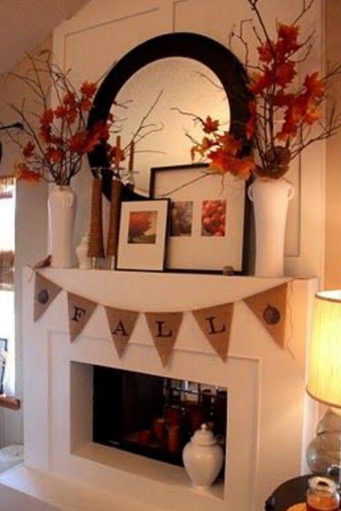 Fall thanksgiving decor decorations mantels leaves