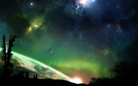 Aurora In Outer Space