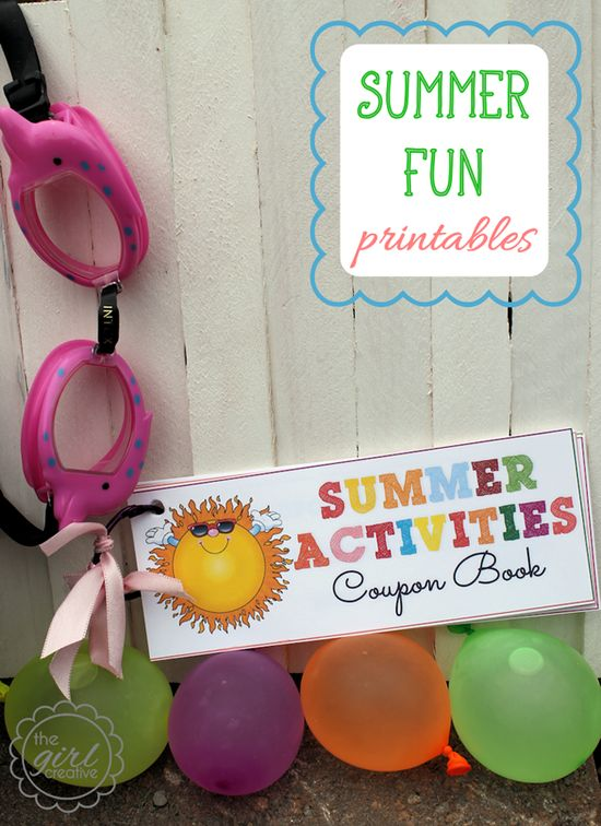 Summer activity printable coupon book... perfect for the kids!