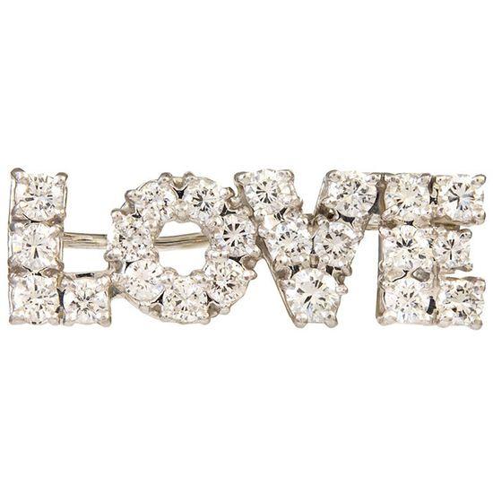 TIFFANY & Co. Diamond  Platinum Love Brooch