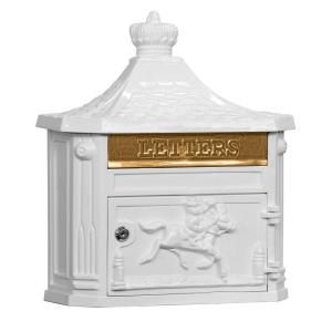 Salsbury Industries 4400 Series Victorian Mailbox in White-4460WHT at The Home Depot
