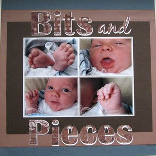 scrapbook baby boy ideas