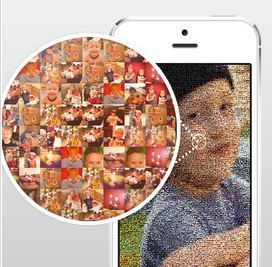 Turn your photos into a Mosaic with mymosaic app -- cool!