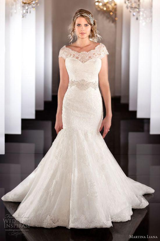 martina liana fall 2013 wedding dress style 463 lace mermaid off shoulder sleeves