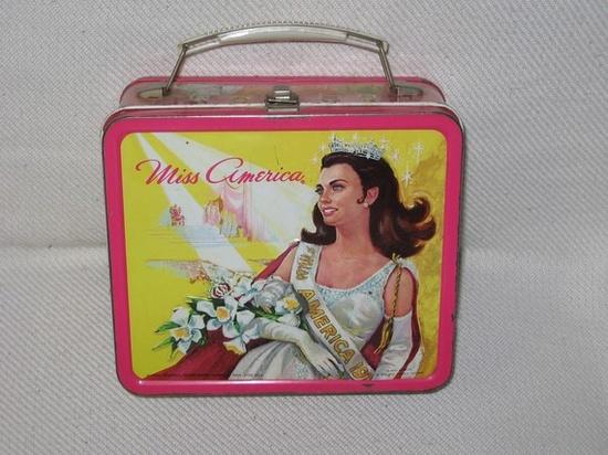 vintage 1972 aladdin miss america metal lunchbox by SAVEALOTSHOP, $40.00