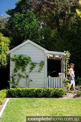A cute kids cubby house.
