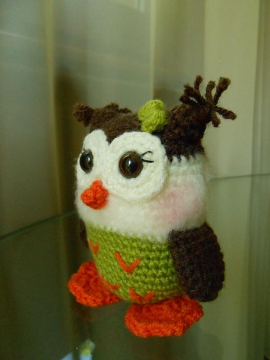 """""""Green baby owl  crocheted amigurumi toy by dodigurumi on Etsy, $16.00"""" #Amigurumi  #crochet"""