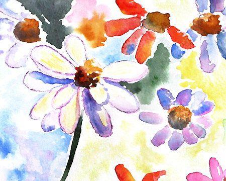 spring decor flower watercolor  Flower art by LightheartedDreamer, $15.00