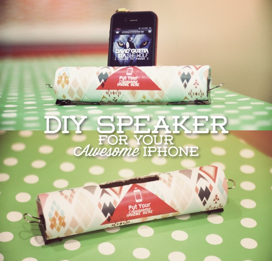 DIY speaker for your Awesome iPhone #DIY