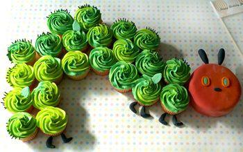 very hungry caterpiller cupcake display
