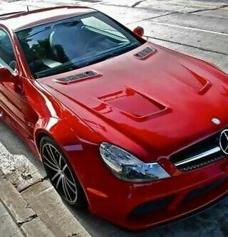 Stunning red Mercedes sports car!