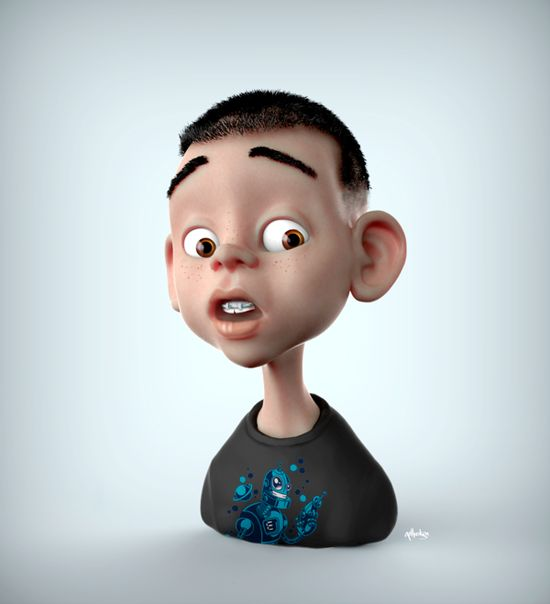 3D Boy Cartoon Character #3D #boy #character #child