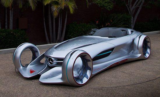 Futuristic Mercedes Silver Arrow Concept