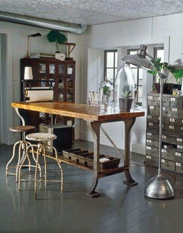 Rustic Industrial Work Table