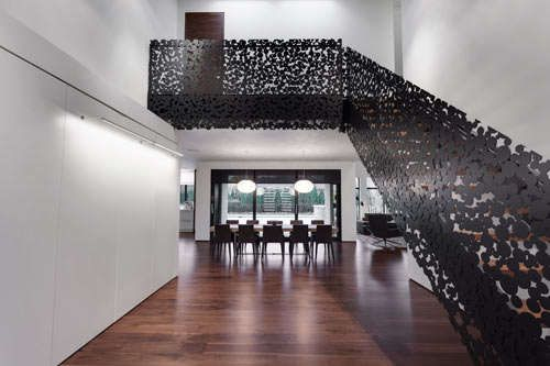 This Montreal Home Features a Stunning 'Iron Lace' Staircase #design trendhunter.com