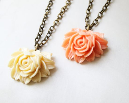 Vintage Style Rose Cabochon Necklace by SweetAuburnStudio, $30.00www.etsy.com/shop/SweetAuburnStudio