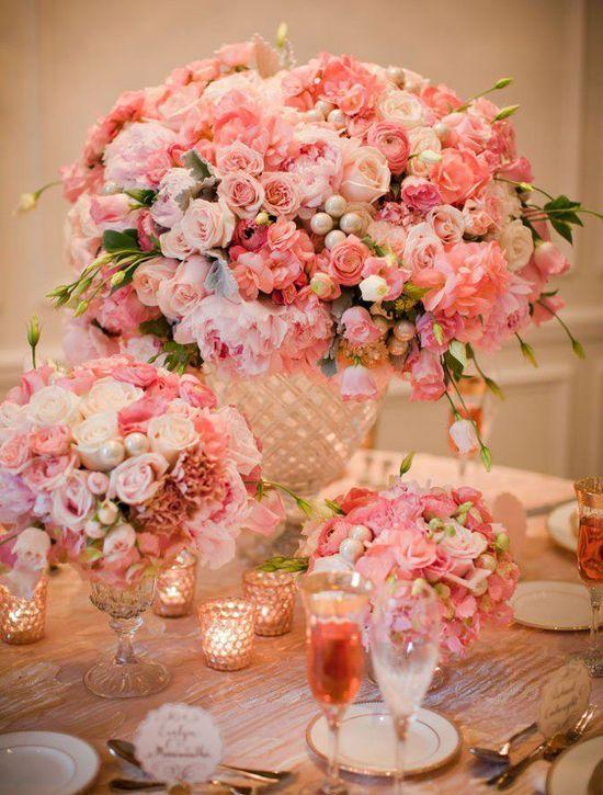 Flowers and more flowers. Lovely centerpieces
