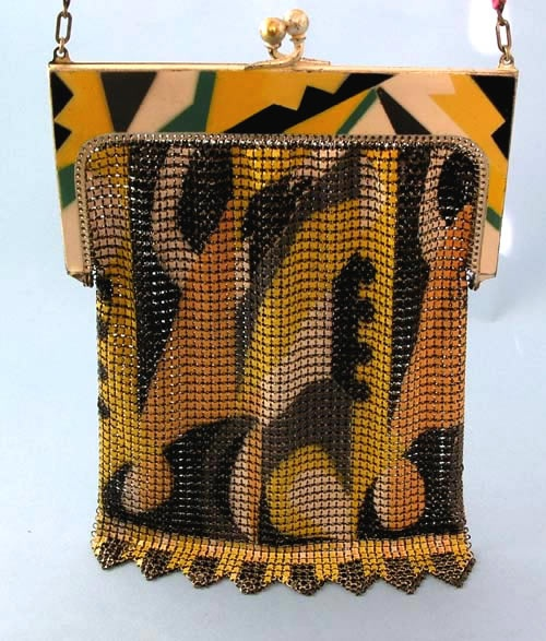 Vintage art deco mesh purse whiting and davis
