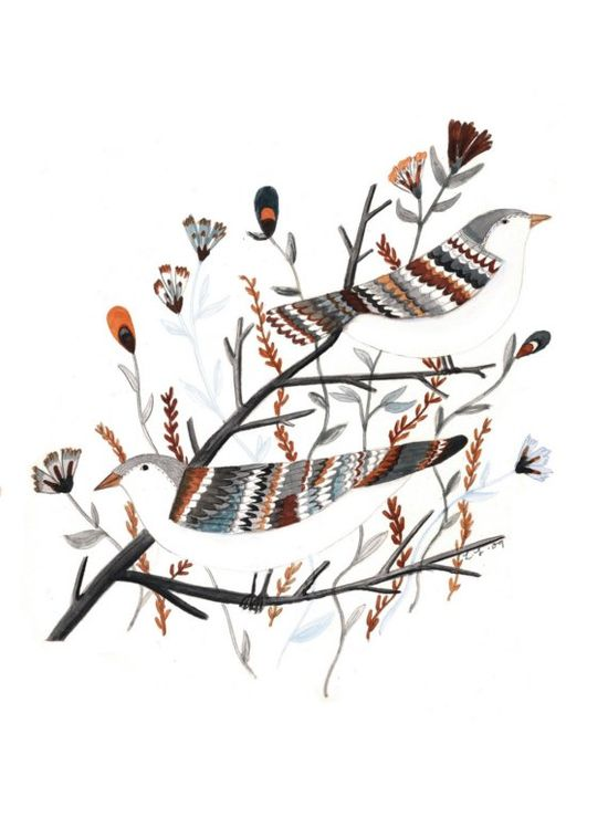 Birds digital print by LizzyStewart on Etsy