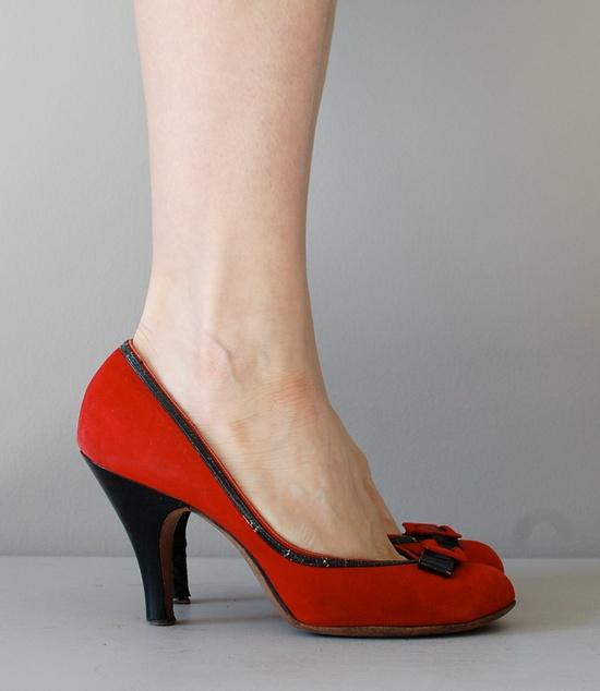 1950s shoes, Red Alert heels.