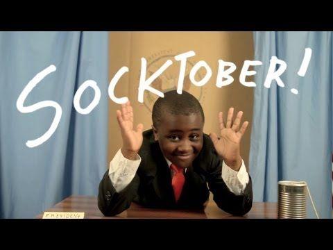 Hello Internet! It's #SOCKTOBER! Love, Kid President