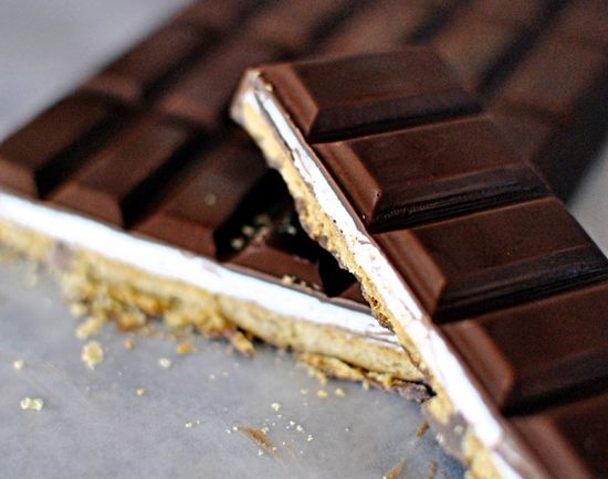We are always down for new s'mores ideas: S'mores Candy Bar