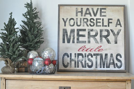 Merry Little Christmas Sign. in love!!