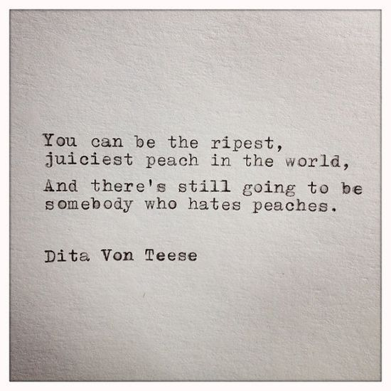 Dita Von Teese Quote Typed on Typewriter by farmnflea on Etsy, $9.00