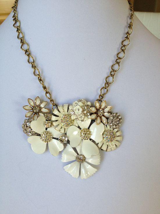 repurposed vintage jewelry necklace