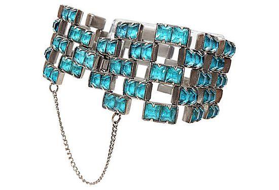 Aqua Rhinestone Bracelet ?