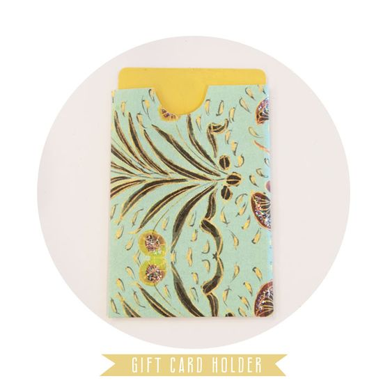 DIY gift card holder. Via Papaya Blog.