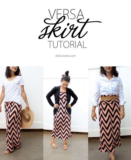 delia creates: Versa Skirt TUTORIAL
