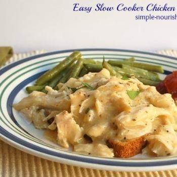 Easy Slow Cooker Chicken & Gravy Recipe